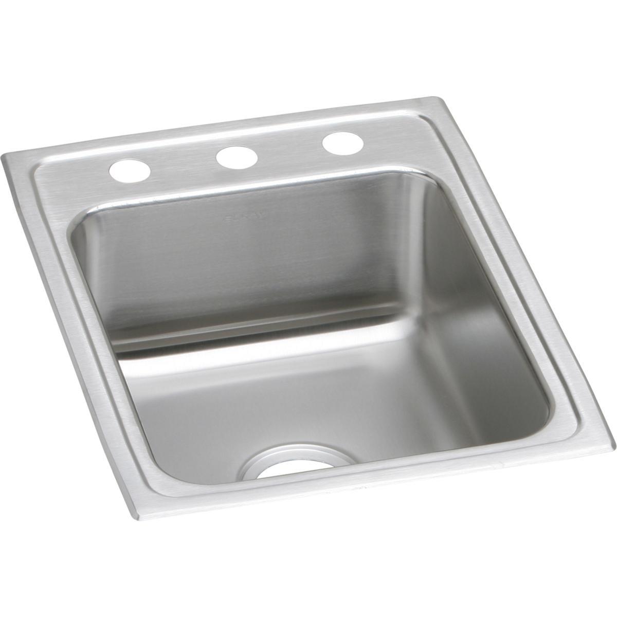 Elkay Lustertone LR17223 Single Bowl Top Mount Stainless Steel Sink