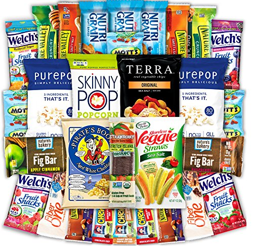Canopy Snacks - Deluxe Healthy Care Package - Variety Assortment Bundle of Fruit Snacks, Granola Bars, Popcorn, Veggie Chips, and More! (30 Count)