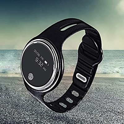 E07 Smart Band Bracelet IP67 Waterproof Step Tracker Activity Fitness Sleep Tracker Pedometer Swimming Smart Watch Wristband for IOS Android(Black)