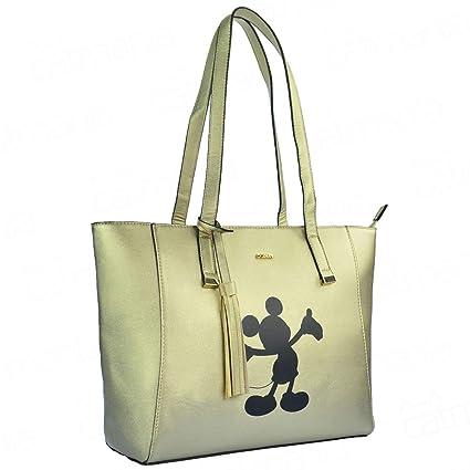 0106e1931 Bolsa de Ombro Disney Mickey Mouse Ouro Luxo Original Nota: Amazon.com.br:  Papelaria e Escritório