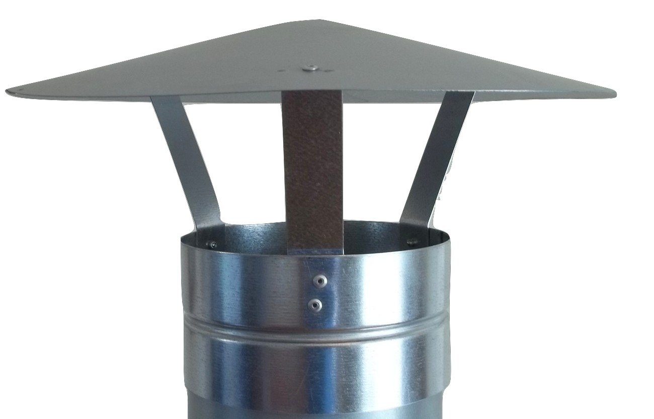 stove pipe cap. chimney cap,galvanised rain cap,chimney cowl to fit 5\u0027\u0027/125mm flue pipe/stove pipe: amazon.co.uk: kitchen \u0026 home stove pipe cap 6