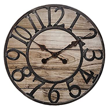 Chaney Instrument Co 75177 Wood Finish Wall Clock, 19.5