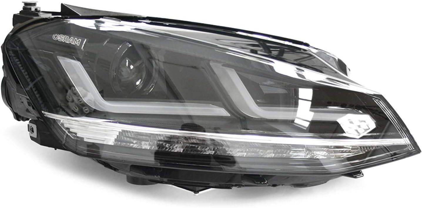 Volkswagen 5g1052163 Scheinwerfer Nachrüstsatz Umrüstung Von Halogen Auf Led Chrom Edition Nur Für Vor Facelift Modelljahr 2013 2017 Auto