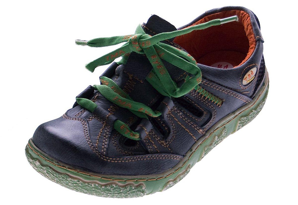 TMA - Zapatos de cordones de cuero para mujer 36 EU negro - negro
