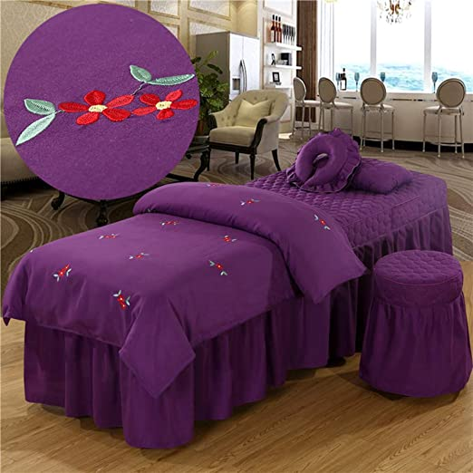 Amazon Com Amy Embroidered Cotton Beauty Bed Skirt Sheet Bed