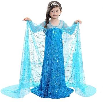 Disfraz de Elsa para niñas, princesa Ice Queen, disfraz ...