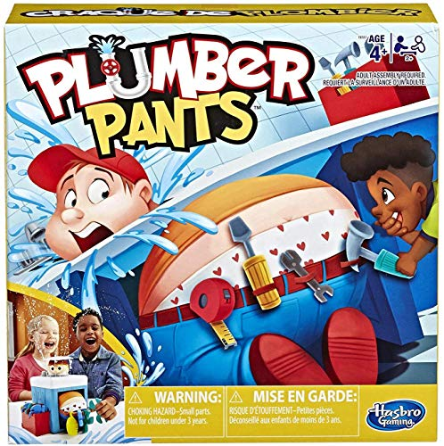 Hasbro Gaming Plumber Pants Game for Kids Ages 4 & Up