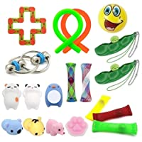 Kunshion 19 Pack Sensory Toys Bundle, Stress Relief Fidget Toys for Kids and Adults, Sensory Fidgets for ADHD Anxiety Autism