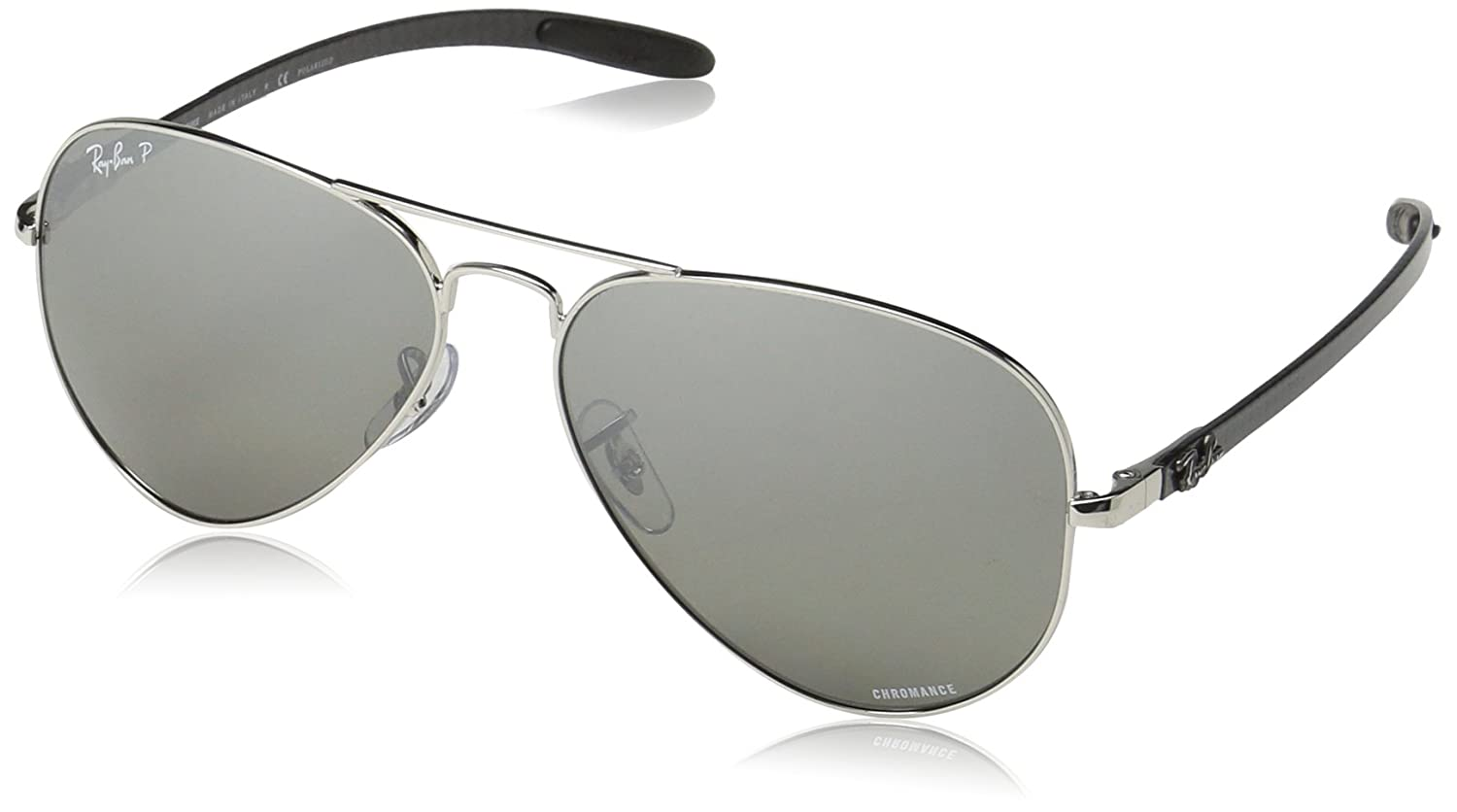 393b1f32f2ad5 Ray-Ban Chromance RB8317CH 003 5J 58mm Shiny Silver   Silver Mirror  Polarized