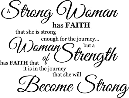 Newclew A strong woman knows she has strength enough for the journey -  Removable Vinyl wall art Inspirational encouragement poetry quotes and  saying