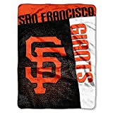 MLB San Francisco Giants Strike Plush Raschel Blanket, Black, 60 x 80-Inch