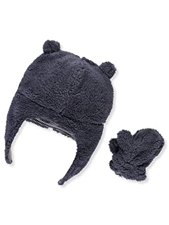 3cbcd54b648 Amazon.com  Carter s Baby Girls  Pilot Velboa Hat   Mitten Set  Clothing