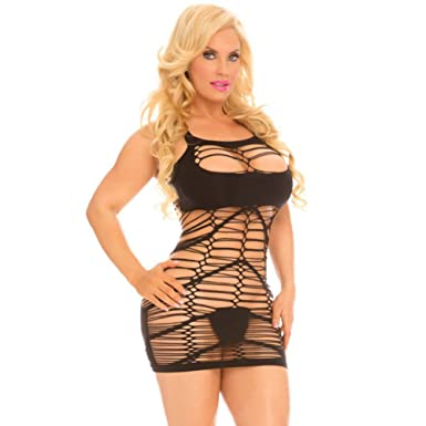 ad13f46eaec Cocolicious Women's Sexy Lingerie Slashorama Seamless Racy Mini Dress - One  Size