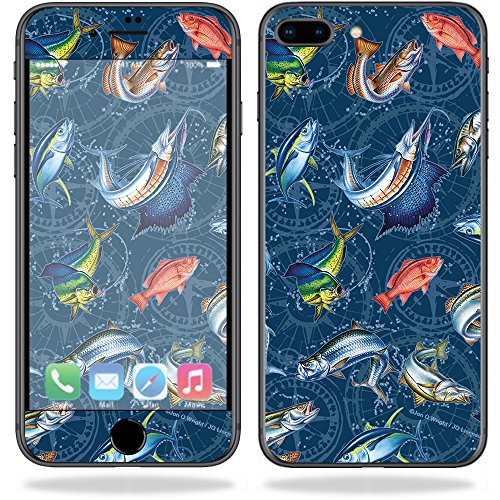 - MightySkins Skin For Apple iPhone 8 Plus - Saltwater Compass | Protective, Durable, and Unique Vinyl Decal wrap cover | Easy To Apply, Remove, and Change Styles | Made in the USA