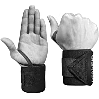 Elastic Wrist Wraps - 18 Inch Pair for Fitness, Powerlifting, Bodybuilding, Weight Lifting, Cross-Training Wrist…