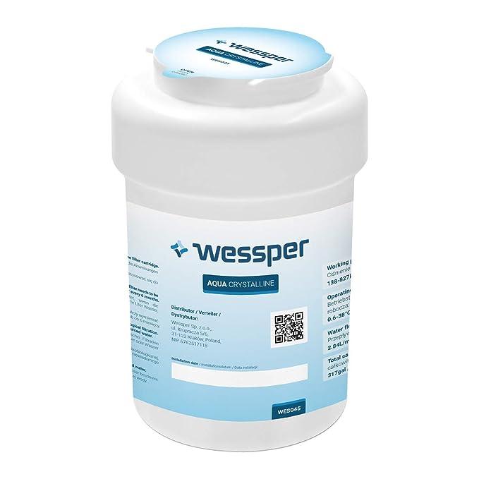 Wessper® Filtro de agua para General Electric GE Smartwater: MWF GE MWF MWFA MWFAP MWFDS MWF-INT MWFP GWF GWF01 GWF06 GWFA GWFDS 53-WF-07GE WF07 101057A: ...
