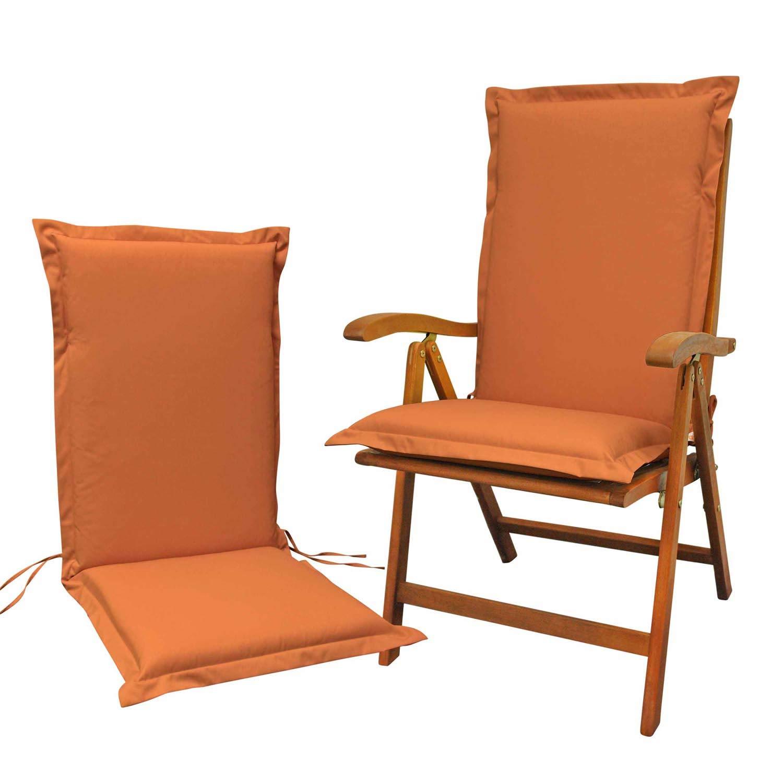 Indoba 2 x Sitzauflage Hochlehner Terra-Serie Premium Polsterauflagen