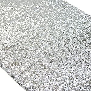 "TRLYC 13""*108"" Elegant Luxury Wedding and Party Sequin Rectangle Table Runner Colors are Available 4"