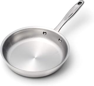 product image for 360 Stainless Steel Frying Pan, Handcrafted in the USA, Induction Cookware, Dishwasher Safe, Oven Safe, Surgical Grade Stainless Steel Cookware, Professional Grade Fry Pan (8.5 Inch Skillet)