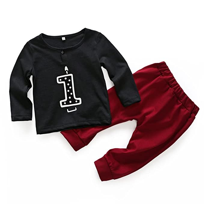Newborn Baby Boy Long Sleeve T-shirt Tops+Pants Outfits Clothes Set Lovely Gift