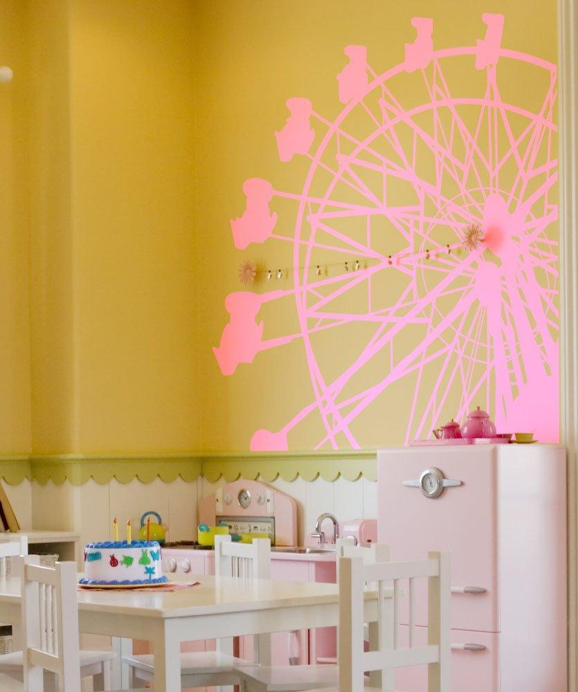 Amazon.com: Ferris Wheel Vinyl Wall Decal Circus Fair Stickerbrand ...