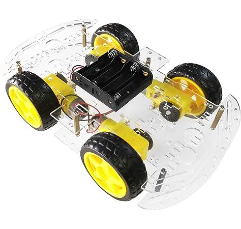 ANGEEK L293D Motor Driver Shield - Motor Paso a Paso para Arduino Duemilanove Mega UNO R3 AVR ATMEL: Amazon.es: Informática