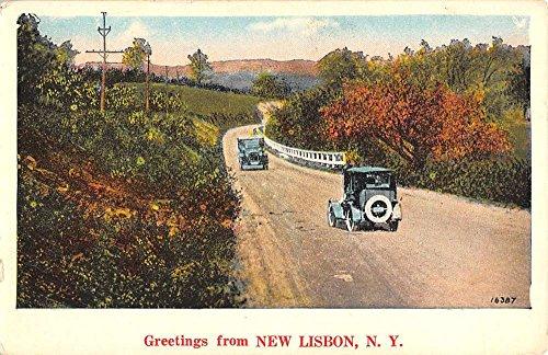 New Lisbon New York Scenic Roadway Greeting Antique Postcard K92577