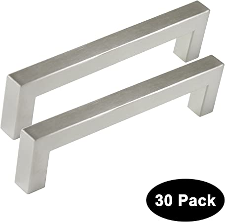 128mm Square Cabinet Cupboard Furniture Kitchen Handle Stainless Steel