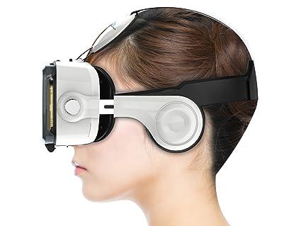 e0e74e666d27 Ocular Grand Fully Adjustable VR Headset With Inbuilt Headphones   42MM  PMMA Lenses (White)
