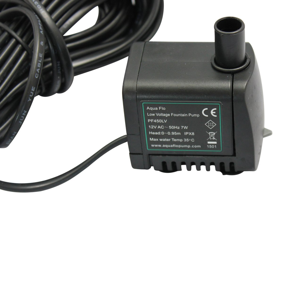 450 Lph Replacement Water Feature Pump With Light Offshoot Low Wiring 12v Voltage Garden Outdoors