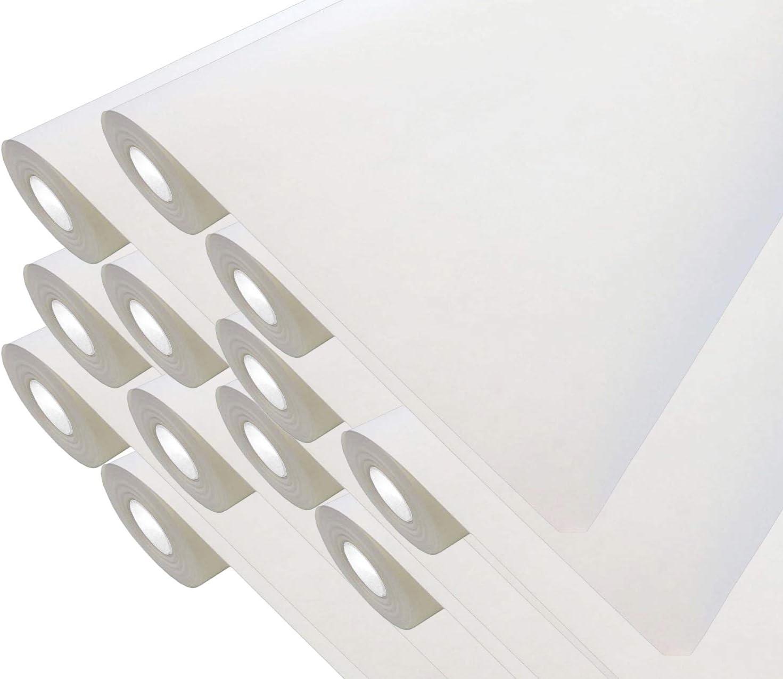 je 37,5 qm 50 Meter Rolle Strukturloses Zellstoff-Polyestervlies Rissabdeckend 12 x Premium Renoviervlies 130g 500m/² Malervlies Anstrich-Vlies glatte /überstreichbare Vliestapete wei/ß