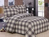 HomeCrate French Oscar Plaid 100% Cotton Pillow Sham - Set Of 2-20'' x 26''