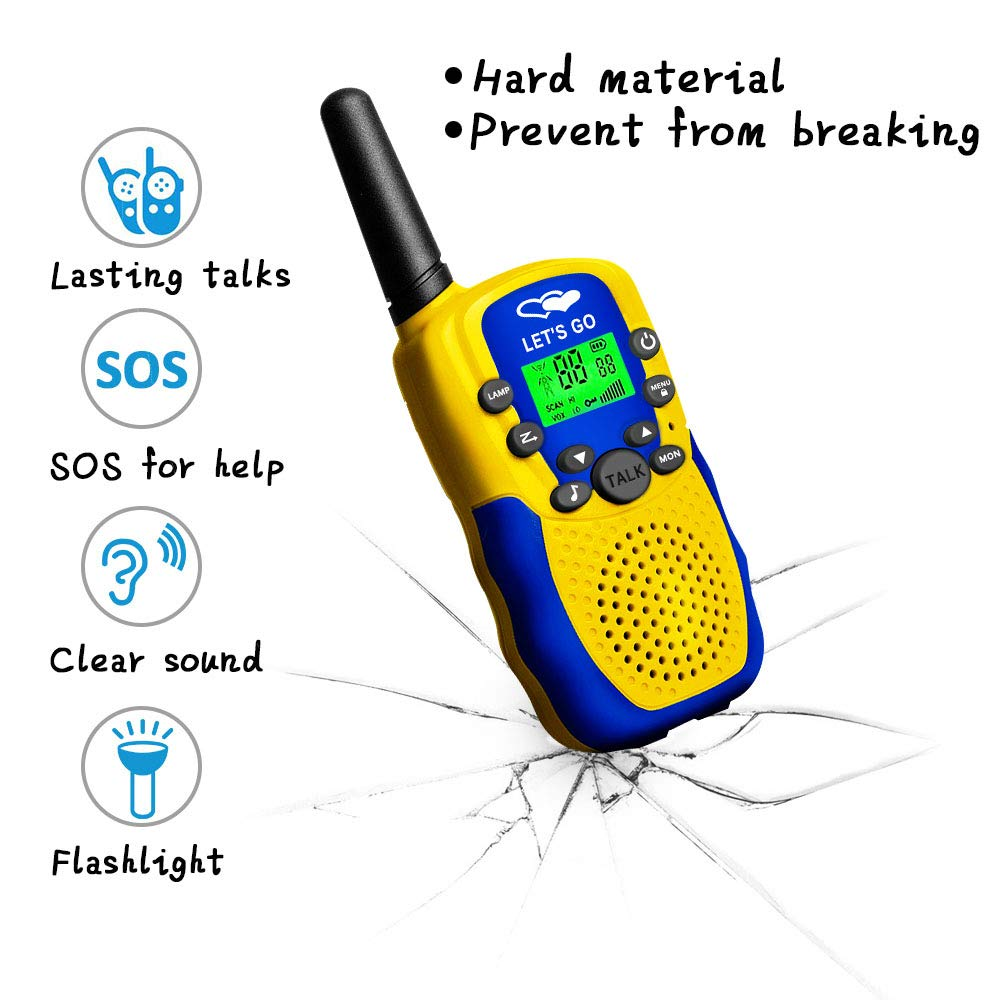 HODO Popular Outdoor Toys for 3-12 Year Old Boys, Long Range Walkie Talkies for Kids Toys for 3-12 Year Old Girls Gifts for 3-12 Year Old Boy Boy Toys Age 3-12 Girl Toys Gifts Age 3-12 HDHTS13 by HOdo (Image #4)
