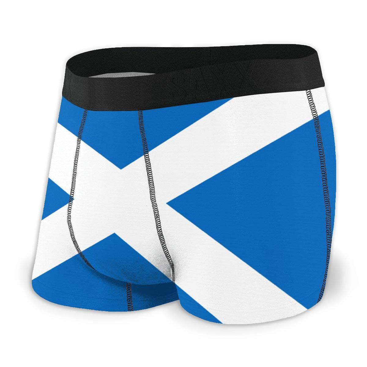 Breathing Yoga Mens Flag of Scotland Athletic Underwear Cotton Stretch Boxer Brief