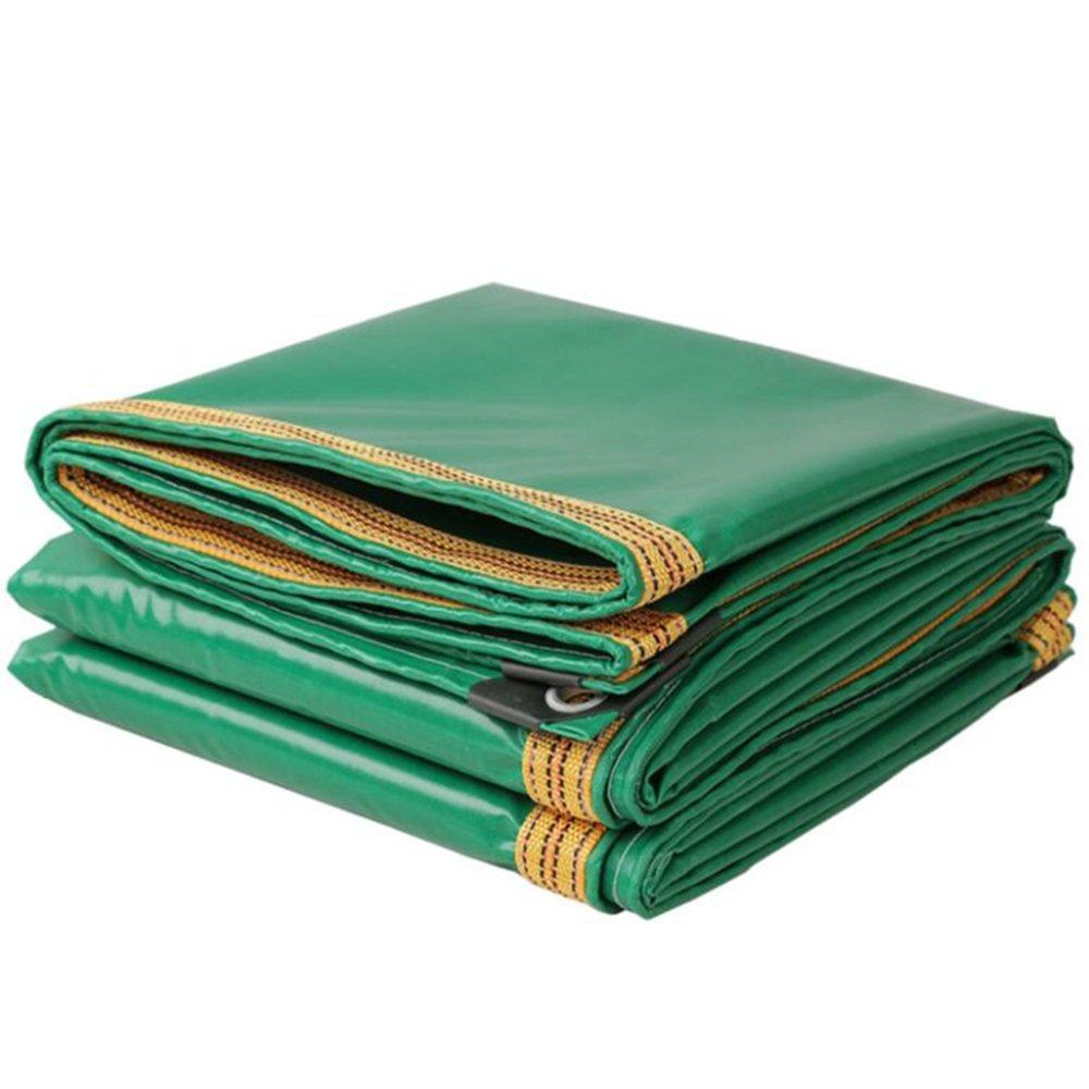 テントの防水シート トラック用防水布\油布\屋外雨布カバー\防水日除けキャンバス\ 3反PVCコーティング布\防水用防水布350g\m²(厚さ0.32MM) それは広く使用されています (色 : 緑, サイズ さいず : 3*5m) B07D6NGRWP 3*5m|緑 緑 3*5m