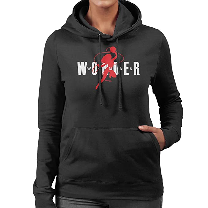 Cloud City 7 Wonder Woman Air Jordan Logo Womens Hooded Sweatshirt: Amazon.es: Ropa y accesorios