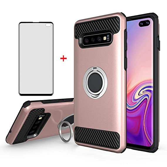 Asuwish Phone Case for Samsung Galaxy S10 Plus with Tempered Glass Screen  Protector Cover Cell Accessories Magnetic Ring Holder Stand Kickstand  Glaxay