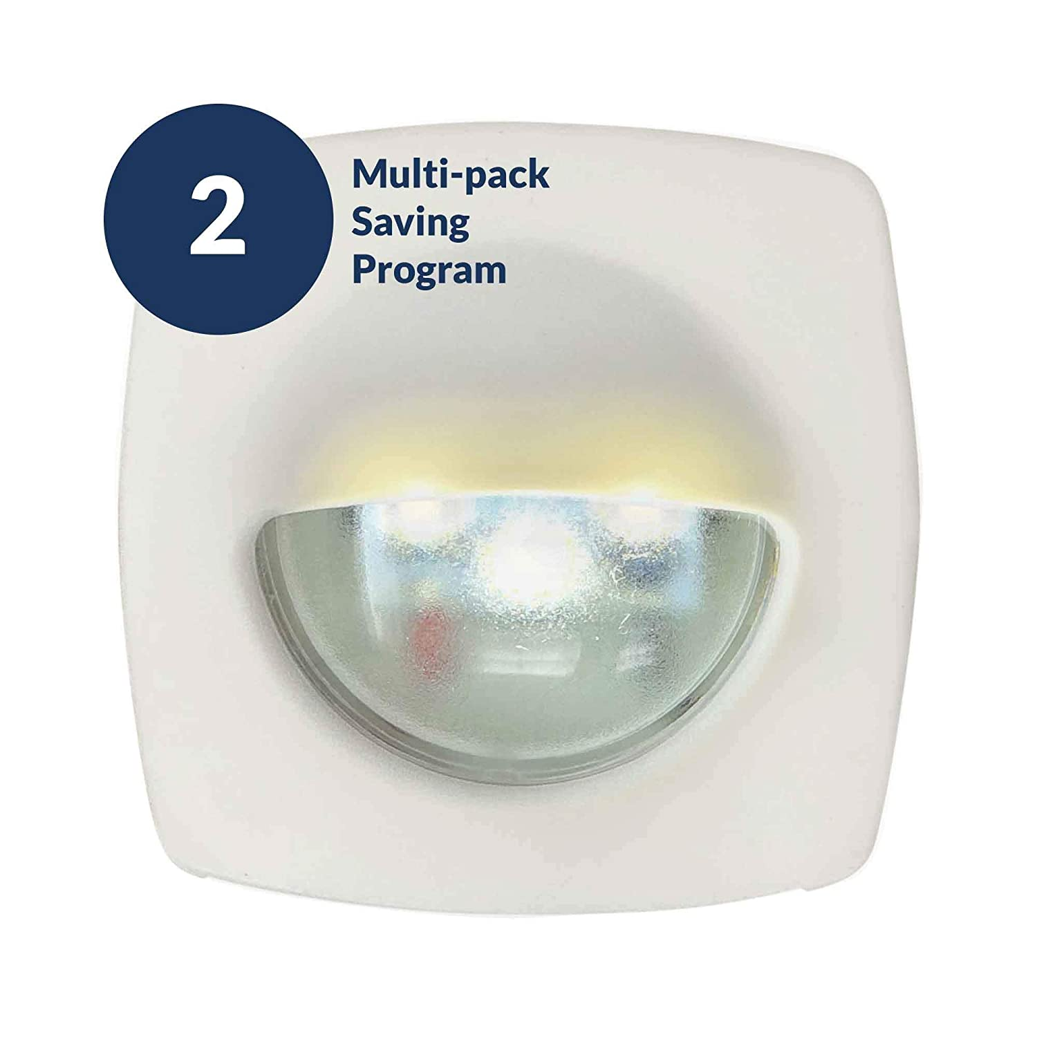 LED Cool White Companion Way Light Five Oceans FO-3994 4 Pack White Housing