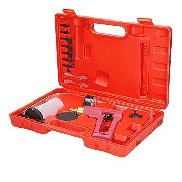 ECD Germany Kit para purgar Frenos Bomba de vacío Universal 760mm HG inclue 8 Accesorios con Probador de vacío y adaptadores: Amazon.es: Coche y moto