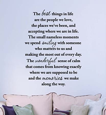 Amazoncom Wall Decal The Best Things In Life Are The People We