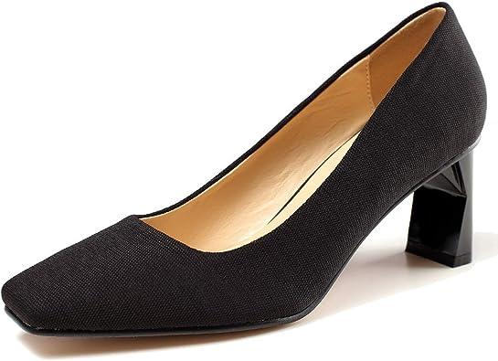 comfortable black work heels