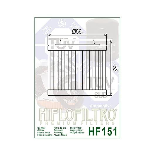 Filtro de aceite HiFlo hf151 Tuareg para ETX 350 (  Tuareg ... on