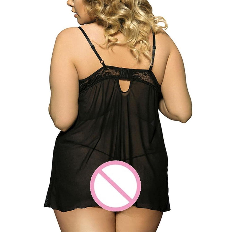 Tsmile Hot Sale{Womens Halter Lingerie}❤️Clearance✿{Plus Size}Fashion/Lace Underwear/Temptation/Muslin Sleepwear (Black, 2XL) at Amazon Womens Clothing ...