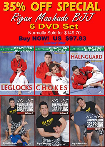 RIGAN MACHADO BJJ - 6 Set SPECIAL 35% OFF Rigan Machado Dvd