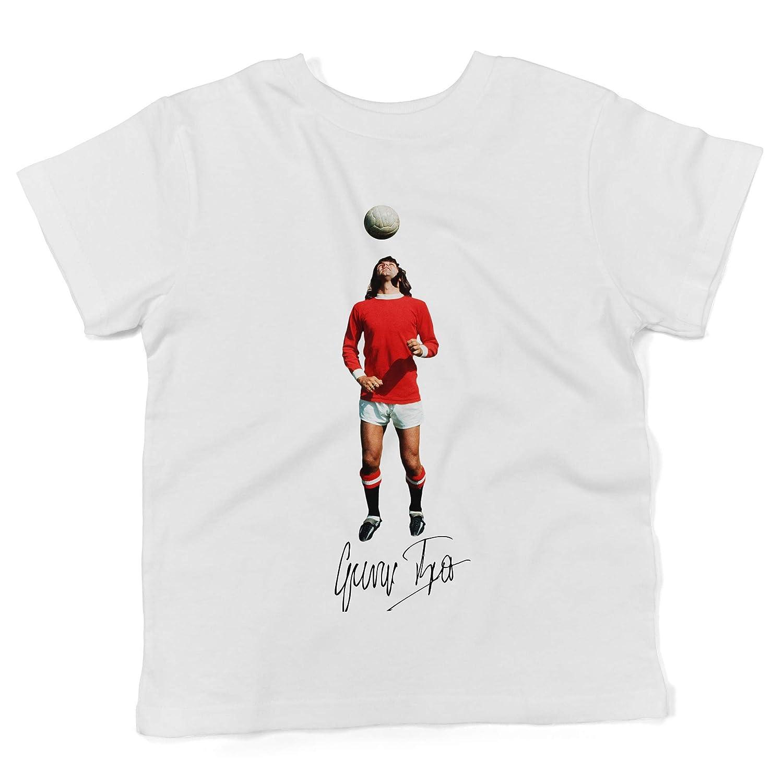 LaMAGLIERIA Baby T-Shirt a Maniche Corte George Best Gb02 - Maglietta 100% Cotone Neonato BTEE-000217