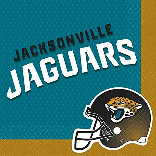 MLB Jacksonville Jaguars Party Paper Luncheon Napkins Tableware, 16 Pieces, Made from Paper, by (Mlb Paper)