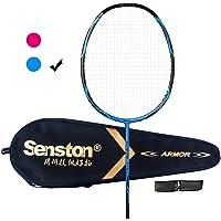 Senston – Ensemble de Haut Niveau Graphite Raquette de Badminton – Y Compris Badminton Sac/Raquettes/Prise en Main
