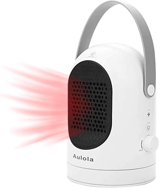 Portable Oscillating Fan Heater with