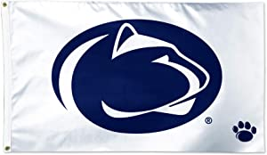 WinCraft Penn State Nittany Lions White Flag NCAA Football 3 x 5 Foot Flag