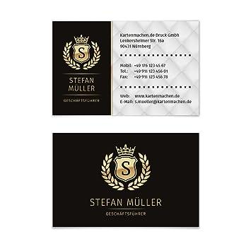 1000 X Visitenkarten Individuell Business Karten 300g Qm 85 X 55 Mm Vip Schwarz Gold